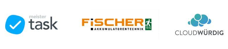 MeisterTask-Fischer-Cloudwürdig-Logos