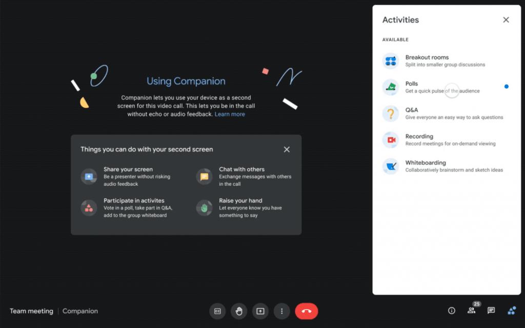 Google Workspace Companion Mode
